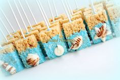 Under the Sea Party Under the Sea Birthday Baby Shower Bridal Seashell Chocolate Rice Krispie Treats Ocean Beach Wedding Mermaid Birthday by CupcakeNovelties on Etsy https://www.etsy.com/listing/235132485/under-the-sea-party-under-the-sea
