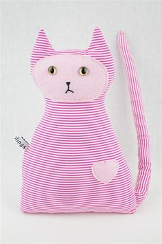 Pink Cat Toy Vegan Friendly Pink Stripe with Pink by earthslings, $20.00