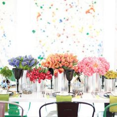 Watercolor Wedding Ideas inspired by colorful artists like Jackson Pollock!