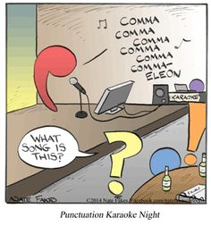 Punctuation karaoke night #grammarhumor
