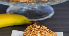 Recept na Banánové trojhránky s ovesnými vločkami  z kategorie snadno a rychle, fitness:  1 hrnek ovesných vloček, 1 lžička mleté skořice, 1 lžička mlet...