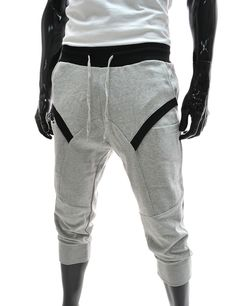 Men's drop crotch harem pants