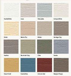 Vinyl Siding Color Chart Vinyl Siding Colors Siding