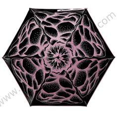 2pcs/lot Five fold 210Tpongee 5 times black coating anti-uv umbrella alloy fiberglass butterflies love flowers compact parasol