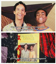 Troy & Abed this photo makes me so happy