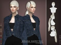 Ariana Hair for The Sims 4