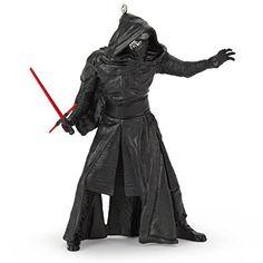 Hallmark Star Wars The Force Awakens Kylo Ren With LIghtsaber Ornament 2015 * For more information, visit image link.