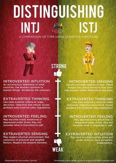 Distinguishing INTJ and ISTJ