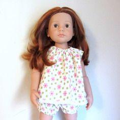 Habit de poupée : ensemble robe et bloomer pour poupées gotz