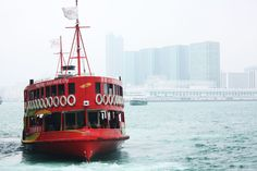 Red Ferry Boat, COOL! #boat Red Photography, Ferry Boat, Love At First Sight, Hong Kong, To Go, Travel, Viajes, Traveling, Trips