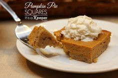 Pumpkin Pie Squares - It's a Keeper