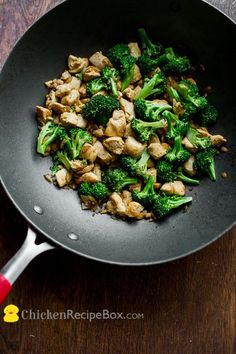 """Low Fat Chicken/Broccoli Stir Fry by   chicken recipe. Another pinned said """"Made this tonight over brown rice and added   fresh mushrooms. Next time I will add even more veggies like pea pods and green   pepper. It was really good. Both of my kids loved it."""""""