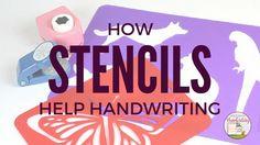 Why stencils can help handwriting