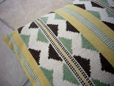 VINTAGE SWEDISH PILLOW / Hand woven pillow / by Loppislover