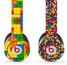 Skin Kit 2 Design Set for Solo / Solo Hd Beats By Dr. Dre - Lego Pattern & Dots Designs