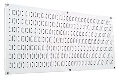 Wall Control Pegboard 16in x 32in Horizontal White Metal Pegboard Tool Board Panel by Wall Control, http://www.wallcontrol.com/16in-x-32in-horizontal-white-metal-pegboard-tool-board-panel/