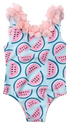 Kidsinwe Toddler Girls Princess Swimsuit Bikini Bathing Suits One Piece Swimwear Tankini Sets 3-10 Years