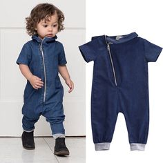 Awesome 2016 Hot Sale!Spring Autumn Baby Denim Rompers Baby Boys Denim Rompers Childrens Clothing Kids Jumpsuits Casual Denim Clothing - $15.81 - Buy it Now! Check more at  https://presentbaby.com