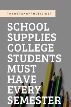 Not sure what school supplies you need to get for college? This post will show you 15 essential school supplies for college. College Essay Tips, College Freshman Tips, College School Supplies, College Hacks, College Fun, College Students, Freshman Year, College Schedule, College Packing