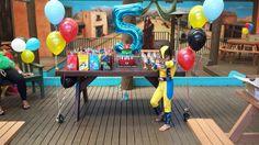 Superhero Birthday Party. Isleys 5th - Wolverine. Superman Logo Banner ❤️