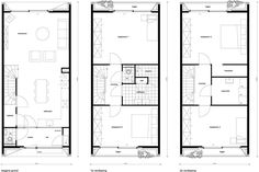 8A Architecten   Loggia house, Amsterdam IJburg, Blok 59 - modern rijtjeshuis met houten gevel