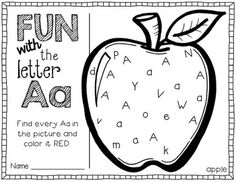 fun with letters A-Z {printables} would be a great center activity for kindergarteners who are being introduced to letters