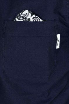 Blue Button Shop - Bandana Chief OX Short Sleeve Shirt - Navy - MRG14SSHTMNAV101956