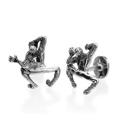 Robin Rotenier - Marvel Collection Sterling Crawling Spider Man Cufflinks