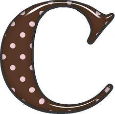 Alfabeto de fondo marrón y lunares rosa. | Oh my Alfabetos!