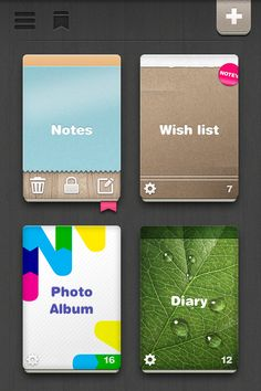 Search & Collect iOS app design with grappic.