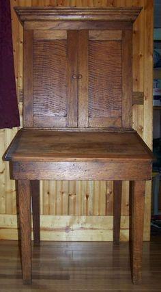 Antique Plantation Desk Slant Top Writing Desk Stand Scroll Map Storage Cubbies #Plantation