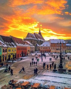 Brasov Romania, Vintage Architecture, Travel Abroad, Winter Scenes, Eastern Europe, Countries Of The World, Countryside, Cool Photos, Places To Visit