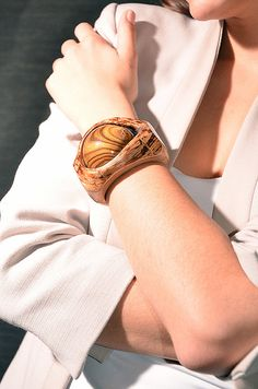 High fashion and unique, special wooden bracelet - Chestnut wood