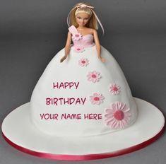 Princess Elsa Birthday Cake For Girls With Name Birthday Cakes