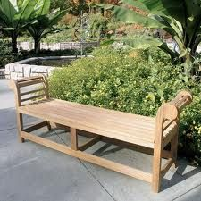 Teak Lutyens Backless Bench