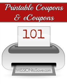 Learn valuable information in my Printable Coupons and eCoupons 101 post. Save more for your family.