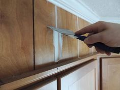 It's easy to learn how to make paneling look like drywall. Check out this step by step tutorial to easily make wood paneling look like smooth drywall! 5 Steps to make paneling look like smooth wall and an easy weekend DIY project. Painted Paneling Walls, Painting Wood Paneling, Wood Panel Walls, Cover Wood Paneling, Wood Paneling Decor, Rustic Painting, Paneled Walls, Wall Panelling, Painting Walls