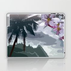 The Storm is Passing Laptop & iPad Skin by Vikki Salmela, #cool #tranquil #tropical #Hawaiian #palm #island scenic on #tech #accessories, #laptop and #iPad #skins. Perfect for protecting your devises in a #fashionable durable case, with coordinating products available.