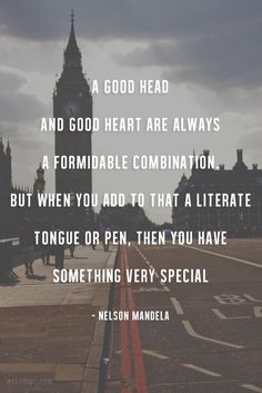 A good head and good heart are always a formidable combination Real Quotes, Amazing Quotes, Tennis Wallpaper, Good Heart, Word Up, Powerful Words, Lyric Quotes, Inner Peace, Writing Inspiration