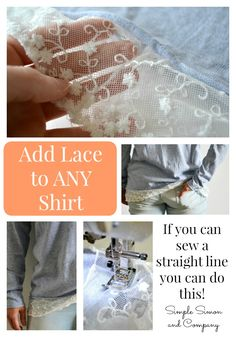 Adding Lace to A Sweater - Simple Simon and Company