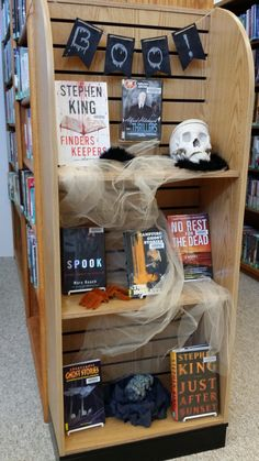 Halloween library display.