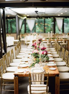 elegant reception, photo by Hunter Photographic http://ruffledblog.com/chagrin-falls-wedding #weddingideas #reception #tables