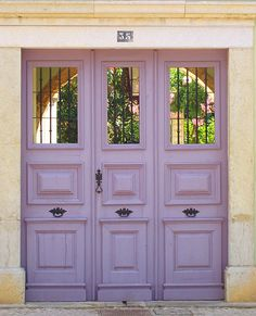 "doors by Maria Papoila, via Flickr  ""The doors we open and close each day decide the lives we live."""