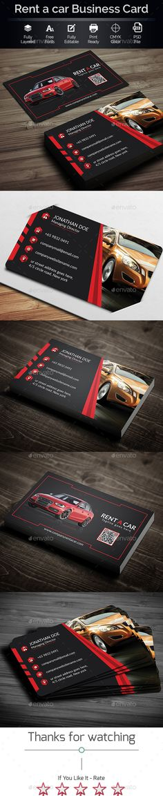 Rent A Car Business Card