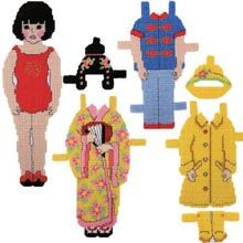 Plastic Canvas: Lanee Paper Doll  - Herrschners
