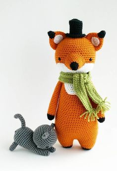 crochet amigurumi ideas FREE cat pattern can be found here: www. You can also find my other amigurumi crochet patterns there, including Mr Fox! Cat Amigurumi, Crochet Fox, Crochet Patterns Amigurumi, Crochet Animals, Crochet Dolls, Free Crochet, Fox Pattern, Pattern Ideas, Crochet Scarves