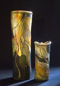 Raku Vases ~ Ellens Pottery