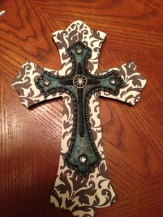 Layered cross wall cross wall decor cross hanging by JandHdesigns, $30.00