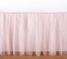 Adorable Tulle Peach Ruffle Crib Skirt In All Sizes Amp Drop