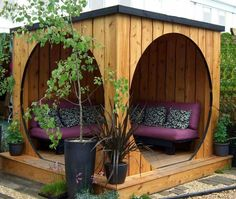 Cool outdoor space that could fit in a small area